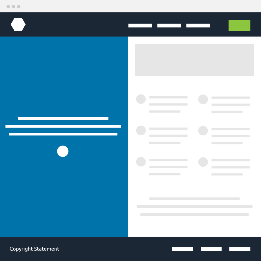 Two column layout wireframe