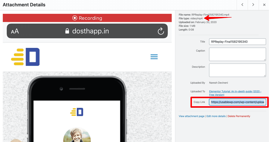 Custom video URL option